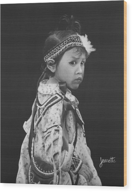 Oneida Girl Wood Print