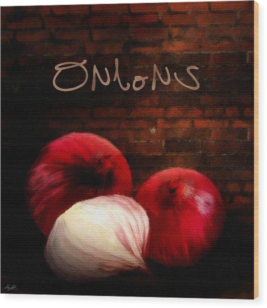 Onions II Wood Print