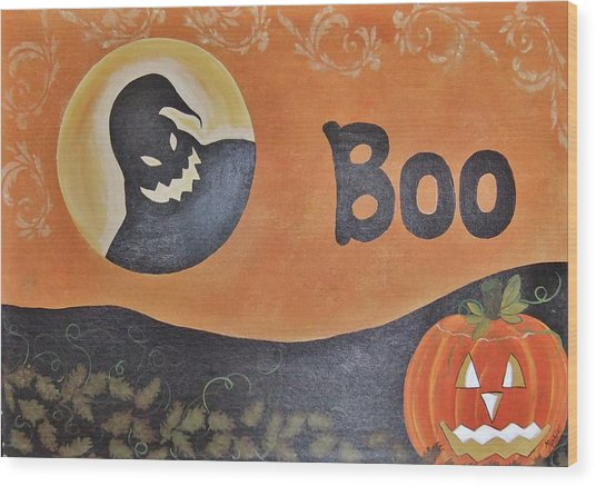 Oogie Boogie Boo Wood Print