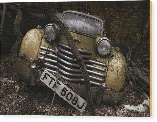 Opel Olympia Wood Print
