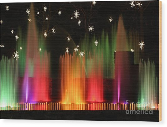 Open Air Theatre Rainbow Fountain Wood Print