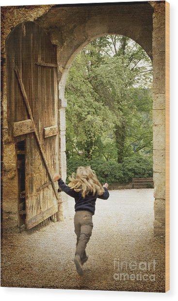 Open Gate Wood Print