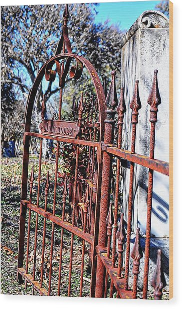 Open Gate Wood Print by Kelly Kitchens