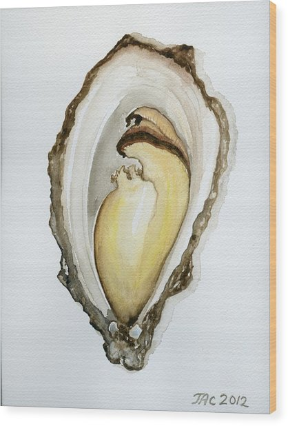 Open Oyster #3 Wood Print