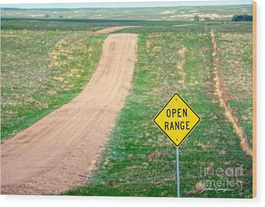 Open Range Wood Print
