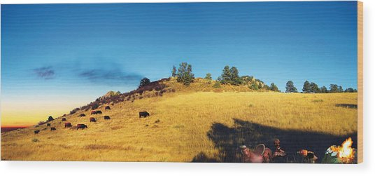 Open Range Wood Print by Ric Soulen
