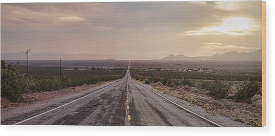 Open Road Wood Print