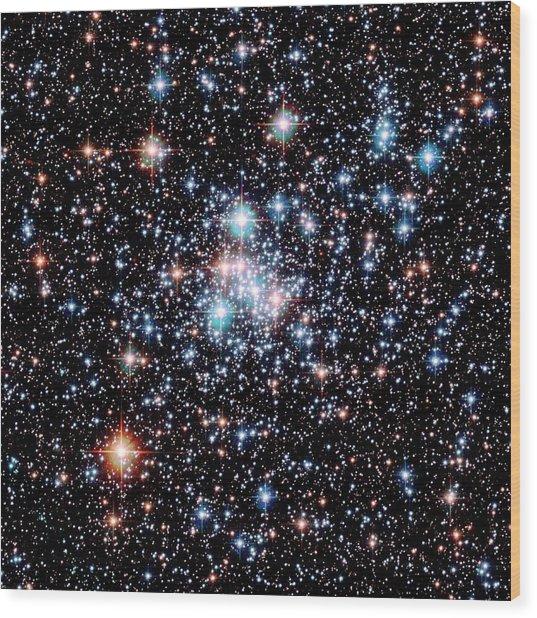 Open Star Cluster Ngc 290 Wood Print by E. Olszewskiu. Arizonanasaesastsci