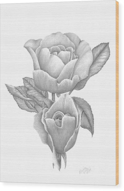Opening Blooms Wood Print