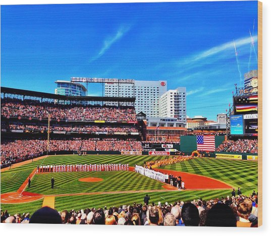 Opening Day 2014 In Baltimore Wood Print