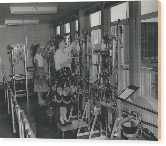 Opening Of The Warren Spring Laboratory... Research Into Wood Print by Retro Images Archive