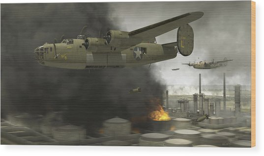 Operation Tidal Wave Side View Wood Print