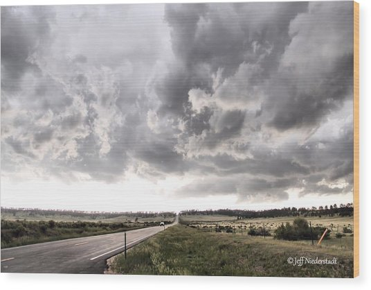 Opposite The Storm Wood Print