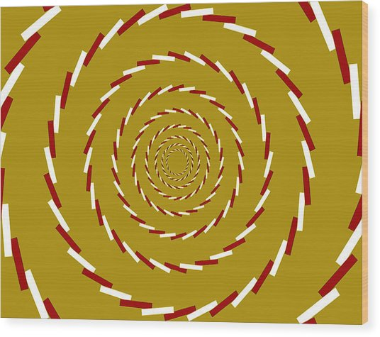 Optical Illusion Whirlpool Wood Print