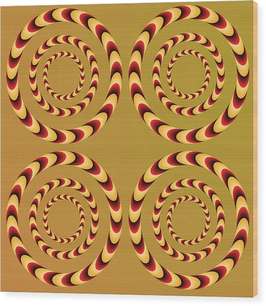 Optical Ilusions Summer Spin Wood Print