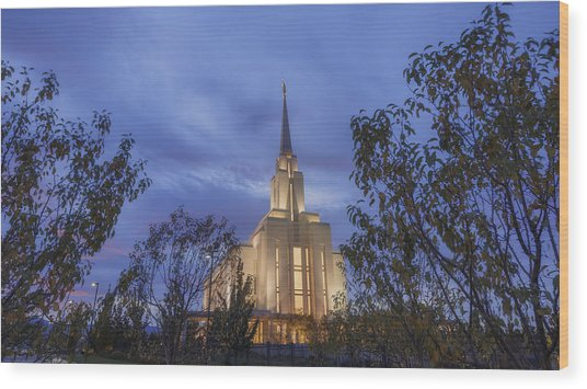 Oquirrh Mountain Temple II Wood Print