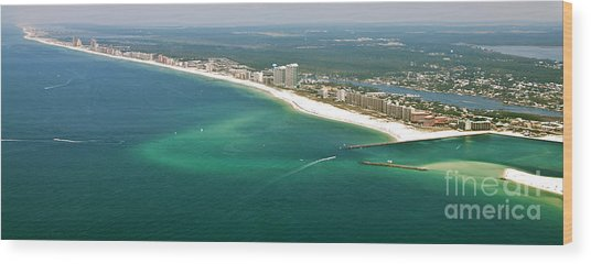 Looking Ne Across Perdio Pass To Gulf Shores Wood Print