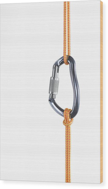 Orange Climbing Rope Connected By Wood Print