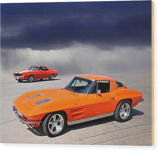 Orange Crush Wood Print
