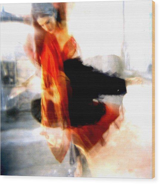 Orange Dancer 1 Wood Print