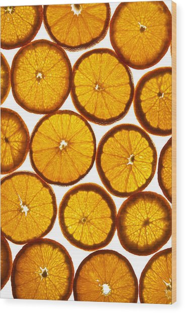 Orange Fresh Wood Print