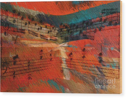 Orange Intermezzo Wood Print
