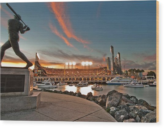 Orange October 2012 Celebrates The San Francisco Giants Wood Print