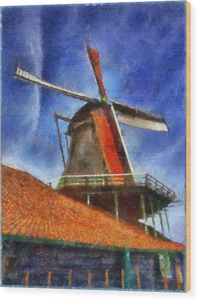 Orange Sails Wood Print by Rick Lloyd