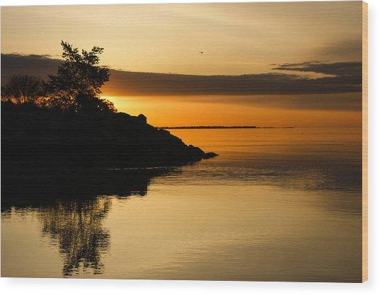 Orange Sunrise Wood Print
