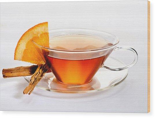 Orange Tea 5528 Wood Print