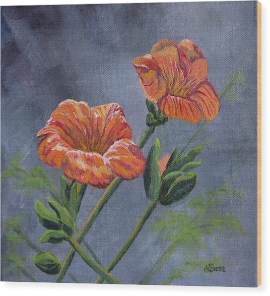 Orange You Ready For Spring Wood Print by Lisa Barr