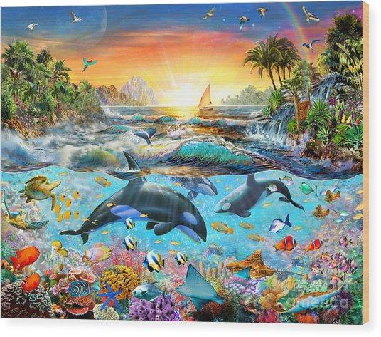 Orca Paradise Wood Print