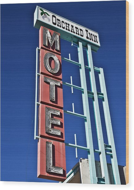 Wood Print featuring the photograph Orchard Inn Motel by Gigi Ebert