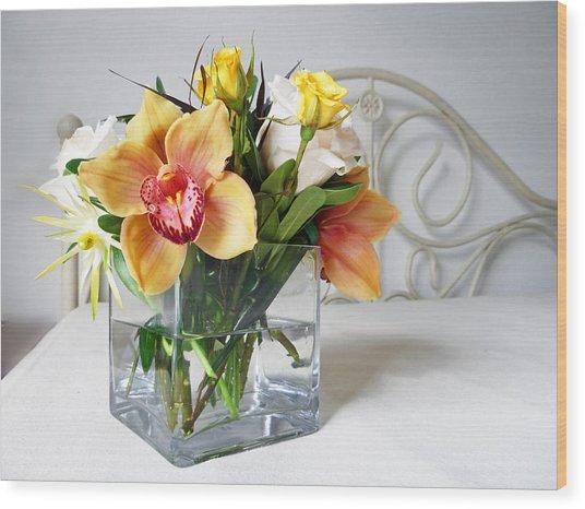 Orchid Bouquet Wood Print