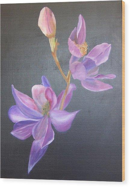 Orchid Wood Print by Catherine Swerediuk