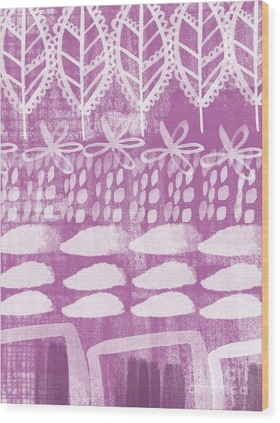 Orchid Fields Wood Print