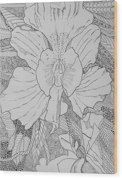 Orchid In Disguise Wood Print