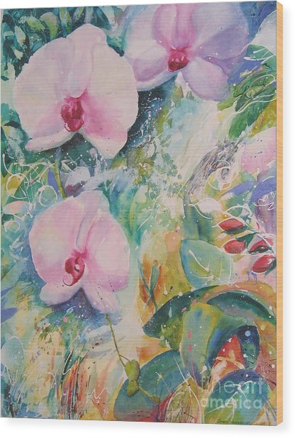 Orchid Spray Wood Print