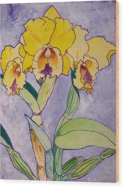 Orchid Study Wood Print