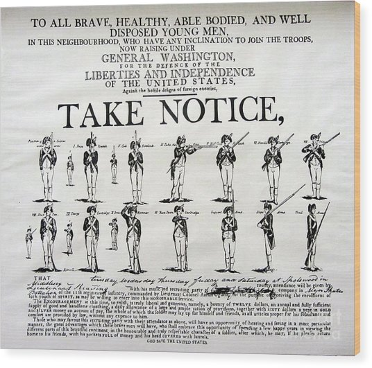 Order Of Battle - Take Notice Brave Men Wood Print