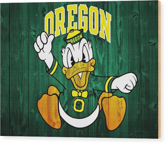 Oregon Ducks Barn Door Wood Print