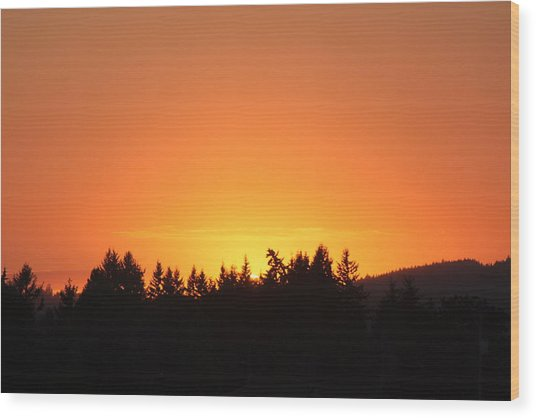 Oregon Sunset Wood Print