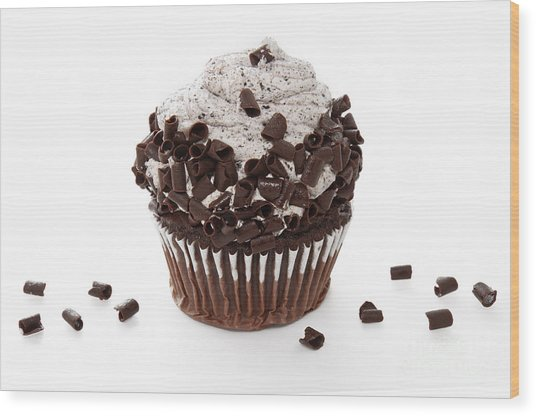 Oreo Cookie Cupcake Wood Print