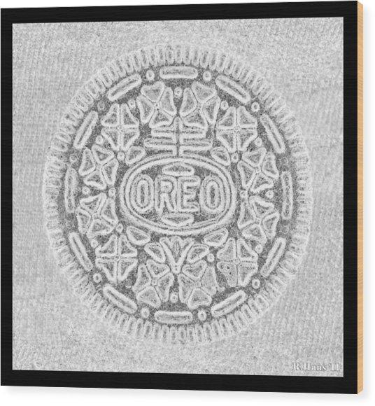 Oreo In Grey Wood Print