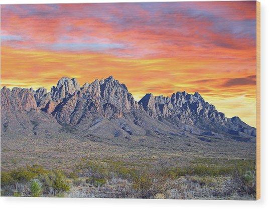 Organ Mountain Sunrise  Wood Print