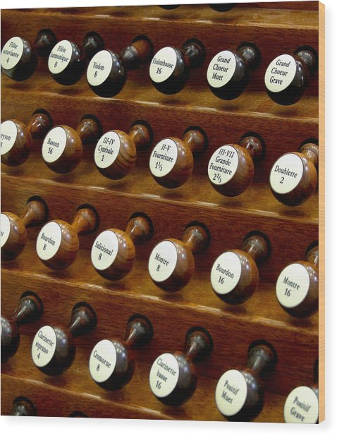 Organ Stop Knobs Wood Print