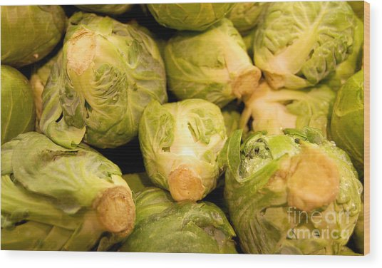 Organic Cabbage Wood Print
