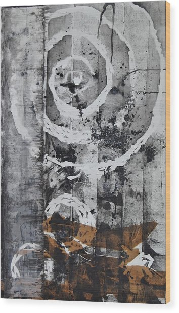 Organic Motion Wood Print by Clara K Johnson