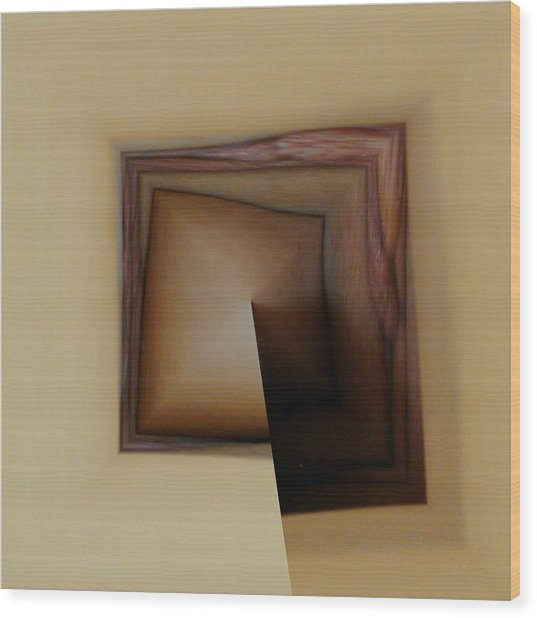 Organic Square Wood Print