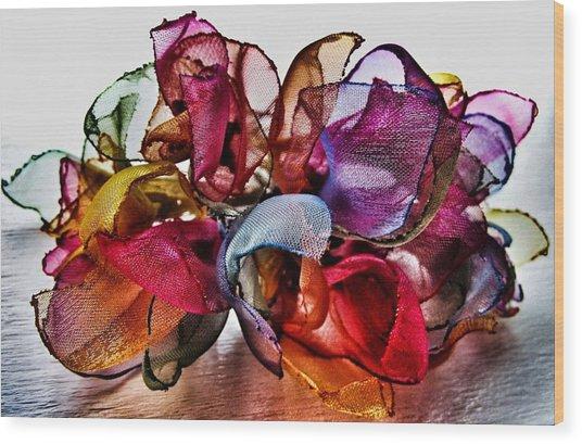 Organza Petals Wood Print